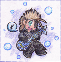 .:Rocking Demyx Chibi:. by RikaArtistic
