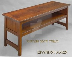 Custom Large Sofa table by DryadStudios
