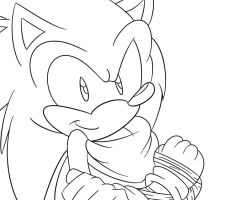 Sonic From Sonic Boom Outline by Shadow4one