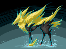 Shiny Mega Manectric by Solastyre