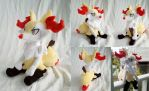 Sitting Braixen Plush by dollphinwing
