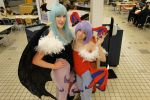 Lilith and Morrigan Aensland Cosplay 2 by KohimeBashiri