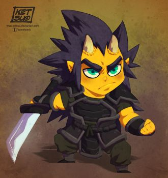 Demon Kid Warrior by KetsuoTategami