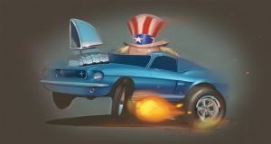 Uncle Sam's Mustang by candyrod