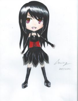 Just a Chibi of my original character by MorwennaBlack