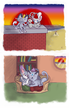 Ugly Cats by SquirrelKitty76