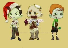 Holiday Zombies by neoanimegirl