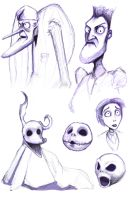 Tim Burton Sketches by Jermmgirl