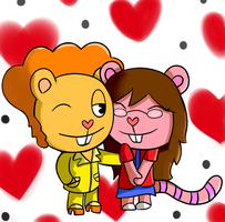 Lizzy and Disco Bear AT by Neenagirl2220