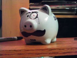 Mustache Piggy Bank by beccaecka