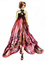 Summer dress design by serge by sergefashion