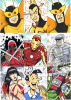 March of Dimes sketch cards by eltoromuerto