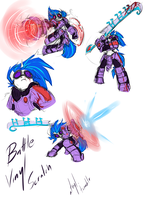 Battle Vinyl Scratch Sketches by atryl