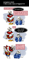 Undertale ask blog: older brother by bPAVLICA