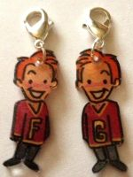 Fred and George charms by Lovelyruthie