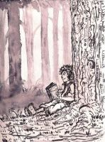 Frodo in the Shire by tarunbanned