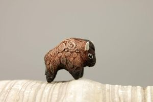 Tiny american buffalo totem by hontor
