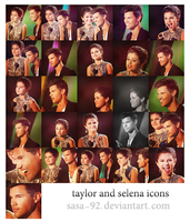selena and taylor icons by sasa-92