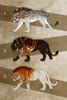Fantasy Saber Cats 2 - AUCTION! - CLOSED! by NadiavanderDonk