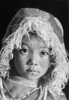 Pencil portrait of a Tibetan Boy by LateStarter63