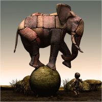 The surrealists' elephant by ShaneGallagher