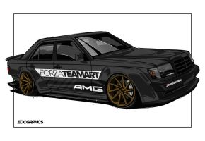 Mercedes-Benz E200 Widebody-edcgraphics by edcgraphic