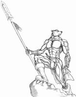 Bearman spear warrior by WolfLSI