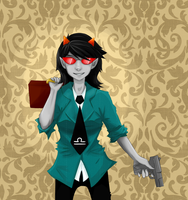 Terezi is a fancypants by Singingcatzz