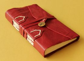 Red Leather Book of Shadows by GatzBcn