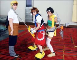 Sora, Cid and Yuffie by Faxen
