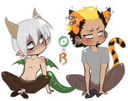 AnE - The Dragon and Tiger by Hieislittlekitsune