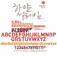 Sistar Kwill Boyfriend   Font by StillPhantom