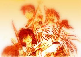 Inuyasha and Friends by Stargazermay