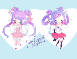 Twin Crystafi Adopt SET PRICE (CLOSED) by YuuiSama