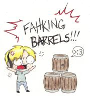 Those damned BARRELS! by TeslaMarcia