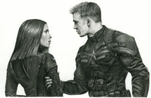 Captain America and Black Widow by LiubovKorotkova