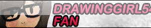 DrawingGirl546 Fan Button by AceRome