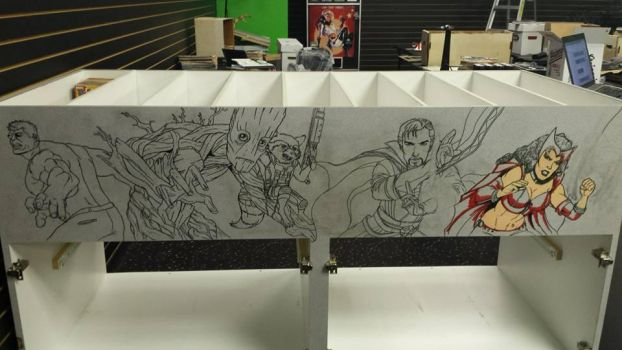 Crater City Comix Tombs WIP left cabinet by Wolfgang-Blaine