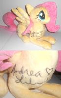 SIGNED Fluttershy Custom Plush Charity Auction by Sophillia