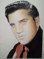 Elvis Presley Color by golfiscool