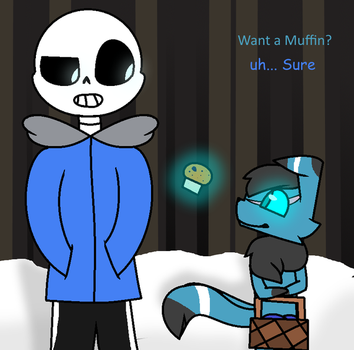 Max and Sans by DragonSoulMew