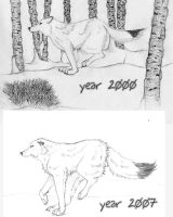 Then and Now- wolves by cloudstar-wolf
