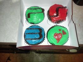 ps3 cupcakes by boredbabe90