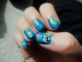 Dino and Panda nails 1 by MelodicInterval