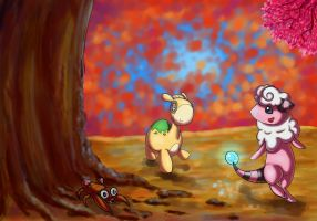 SS: Walking through the Autumn Woods by erovoid