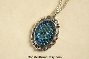 Dragon Egg Cameo Necklace by MonsterBrandCrafts
