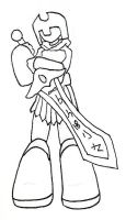 .:Tiny Warrior:. Line Art by bell-chann