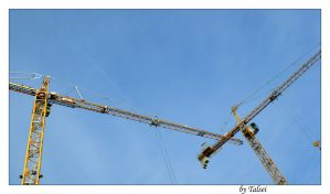 Cranes at work by talsei