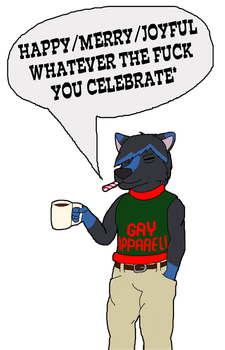 Generic Late-December Holiday Greeting Card by K9RASArt