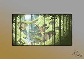 Forest - Pixel Art by Michael-Hansen